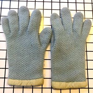 Jcrew Blue knit Gloves